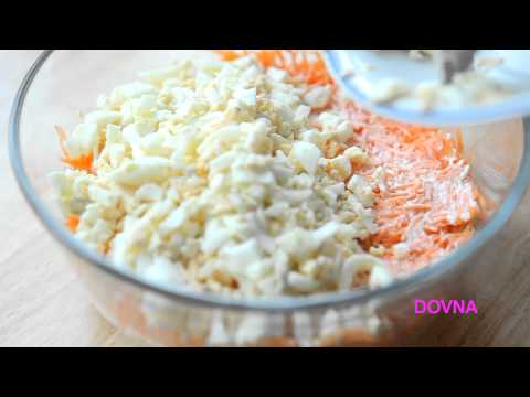салат нежность видео рецепт