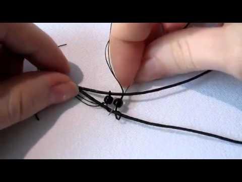 """Плетение браслета на двух иголках (видео обучение) .  Смотрите видео урок  """"Оплетение Кабошона бисером """" на нашем..."""