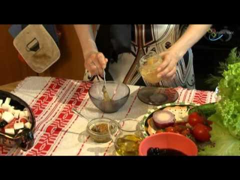 Настоящий греческий салат - видео рецепт