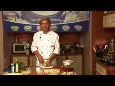 Салат из курицы с соусом крем-чиз