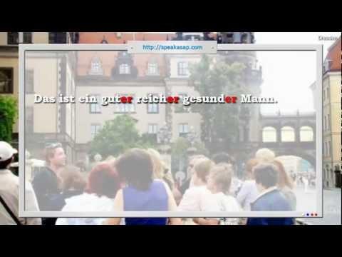 Аккузатив, номинатив, прилагательные - 2 урок видео курса Немецкий язык с носителем