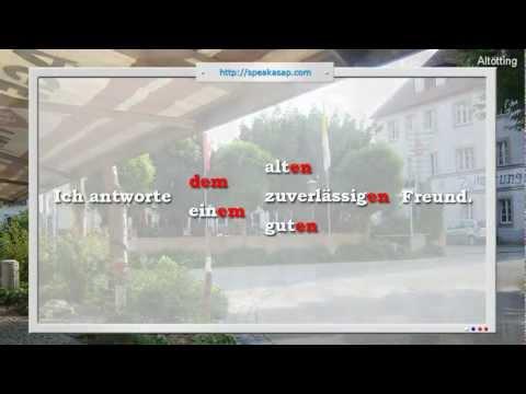 Прилагательные в датив - 4 урок видео курса Немецкий язык с носителем
