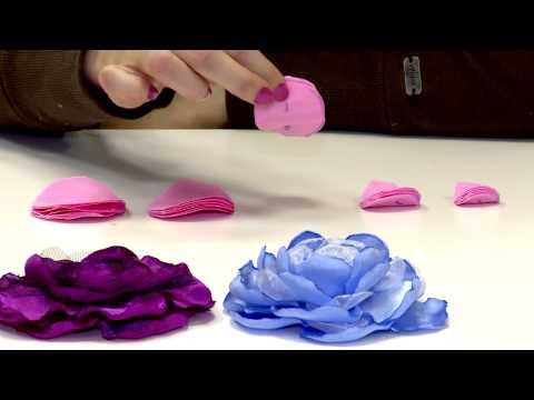Видео цветы из ткани своими руками мастер класс